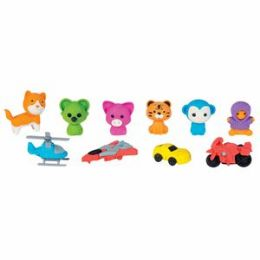 288 Units of Series 1 3-D Collectible Eraser - Erasers