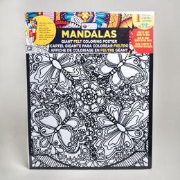 48 Units of Coloring Poster 16 X 20 Felt Mandalas 6 Assorted - Poster & Foam Boards