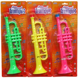 "48 Units of 11"" MY BAND TRUMPET IN BLISTER CARD, 3 ASSRT CLRS - Musical"