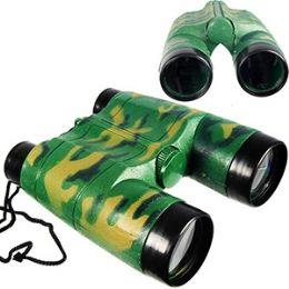 72 Units of TOY CAMOFLAGE BINOCULARS. - Binoculars & Compasses