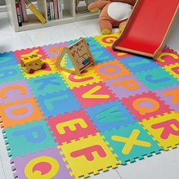 4 Units of 26 PIECES MULTICOLORED ALPHABET PUZZLE PLAY MATS - Puzzles