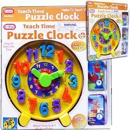 12 Units of Teach Time Puzzle Clocks - Crosswords, Dictionaries, Puzzle books