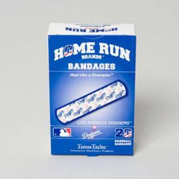 72 Units of Bandages 20ct Box Home Run Brands -La Dodgers - First Aid and Bandages