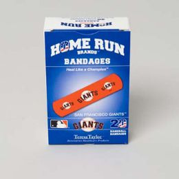 72 Units of Bandages 20ct Box Home Run Brands -san Francisco Giants - First Aid and Bandages