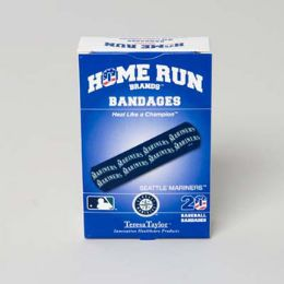 72 Units of Bandages 20ct Box Home Run Brands -Seatle Mariners [14023] - First Aid and Bandages
