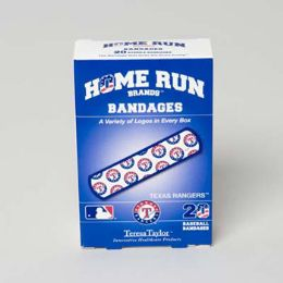 72 Units of Bandages 20ct Box Home Run Brands -texas Rangers [14022]  - First Aid and Bandages