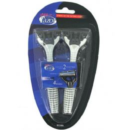 72 Units of Men's Quadruple Blade Disposable Razors - Shaving Razors