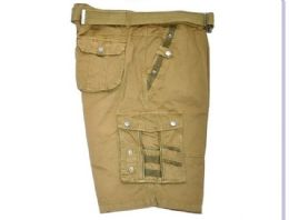 12 Units of MEN'S CARGO SHORTS IN OLIVE COLOR - Mens Shorts