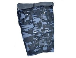 12 Units of MEN'S CARGO SHORTS IN NAVY COLOR BEIGE - Mens Shorts