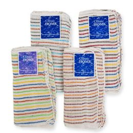 144 Units of Dish Cloth Waffle Weave 11x11 6pk Assorted Stripes [20160] - Kitchen Towels