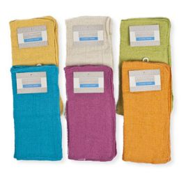 144 Units of Utility Cloth 11x11 4pk 6 Colors Random - Kitchen Towels