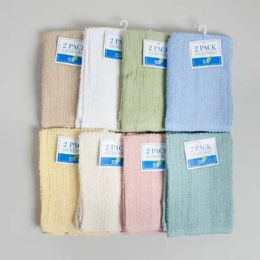 64 Units of Bar Mop Towels 2pk 13 X 16 Assorted Colors - - Kitchen Towels