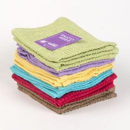 72 Units of Dish Cloths 2pk 12 X 12 Assorted Colors - - Kitchen Towels