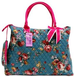 """12 Units of """"Ori-Ori"""" Quilted Large Tote bag w/purse Rose - Tote Bags & Slings"""