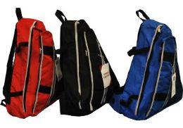 24 Units of One Strap BackpacK-Black - Backpacks