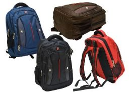"12 Units of 20"" Heavy-Duty Laptop Backpack-Black - Backpacks"
