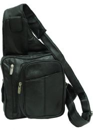 12 Units of Leather Sling Purse-Black - Tote Bags & Slings