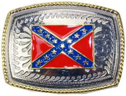 12 Units of Rebel Flag Belt Buckle - Belt Buckles
