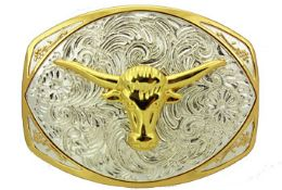 12 Units of Oversized Bull Head Belt Buckle - Belt Buckles