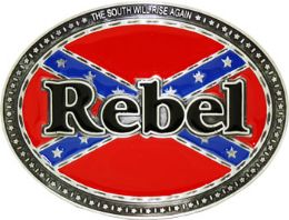 24 Units of Rebel Flag Belt Buckle - Belt Buckles