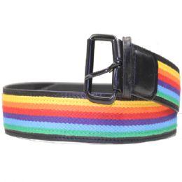 24 Units of Men Rainbow Belt - Mens Belts