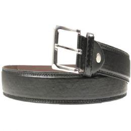 36 Units of Men's Black Belt Design - Mens Belts