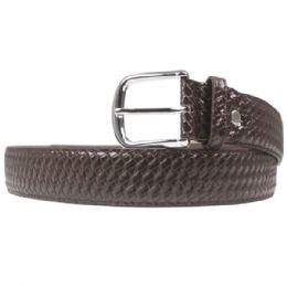 36 Units of Men's Fashion Brown Belt Braided - Mens Belts
