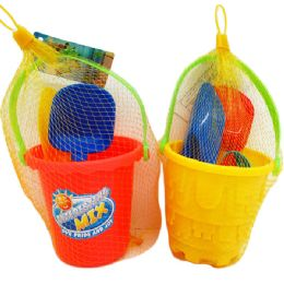 48 Units of BEACH BUCKET WITH ACCESSORIES - Beach Toys
