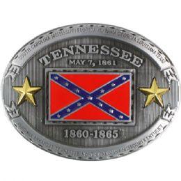 24 Units of Tennessee Rebel Flag Belt Buckle - Belt Buckles