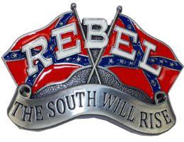 24 Units of Rebel Flags Belt Buckle - Belt Buckles