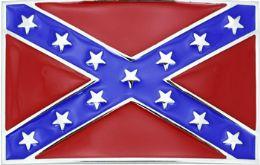 24 Units of Rebel Flag Belt Buckle - Belt Buckles