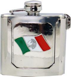 12 Units of Mexican Flag Flask Belt Buckle - Belt Buckles