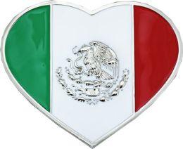 24 Units of Heart Mexican Flag Belt Buckle - Belt Buckles