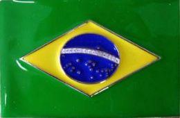 36 Units of Brazil Flag Belt Buckle - Belt Buckles
