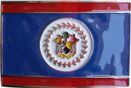 36 Units of Belize Flag Belt Buckle - Belt Buckles