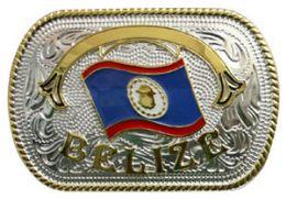 12 Units of Belize Flag Belt Buckle - Belt Buckles