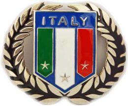 24 Units of Italy Flag Belt Buckle - Belt Buckles