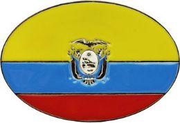 48 Units of Ecuador Flag Belt Buckle - Belt Buckles