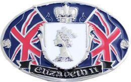 24 Units of Elizabeth 2 British Flag Belt Buckle - Belt Buckles
