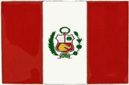 48 Units of Peru Flag Belt Buckle - Belt Buckles