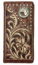12 Units of Embroideried Hose Head Long Western Wallet - Wallets & Handbags
