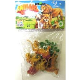 96 Units of PACKAGED PLASTIC LION ANIMALS - Animals & Reptiles