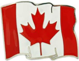 24 Units of Canadian Flag Belt Buckle - Belt Buckles