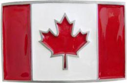 24 Units of Canada Flag Belt Buckle - Belt Buckles