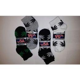 120 Units of LEAF PRINT ANKLE SOCKS 3-PACK - Boys Ankle Sock