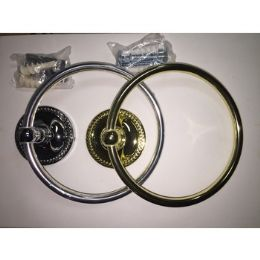 48 Units of BRASS AND SILVER TOWEL RINGS - Towel Rods & Hangers