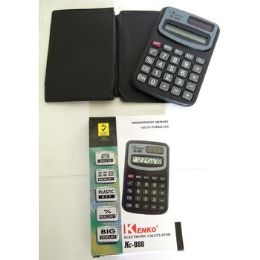 96 Units of SOLAR POWERED CALCULATOR WITH BATTERY - Calculators