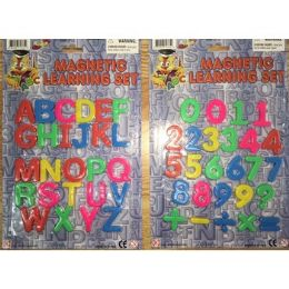 144 Units of MAGNETIC LETTERS AND NUMBERS - Refrigerator Magnets