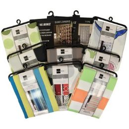 36 Units of Assorted Color and Design Fabric Shower Curtains - Shower Accessories