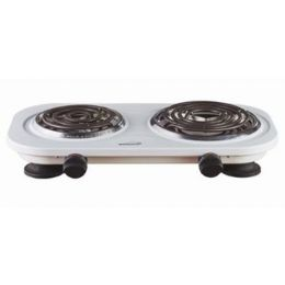 8 Units of TWIN ELECTRIC BURNER - WHITE - Electrical